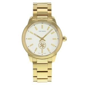 Tory Burch Gold Tone Steel Collins Series Watch